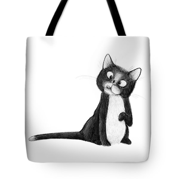 Fly On Cat Tote Bag