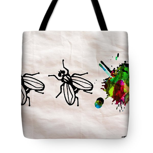 Fly On The Wall Abstract Watercolor Tote Bag