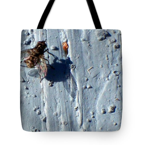 Tote Bag featuring the photograph Fly On The Wall by Betty Northcutt