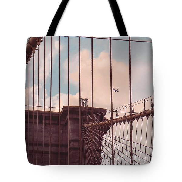 Fly Over Brooklyn  Tote Bag