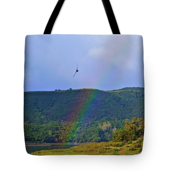 Fly Over The Rainbow Tote Bag