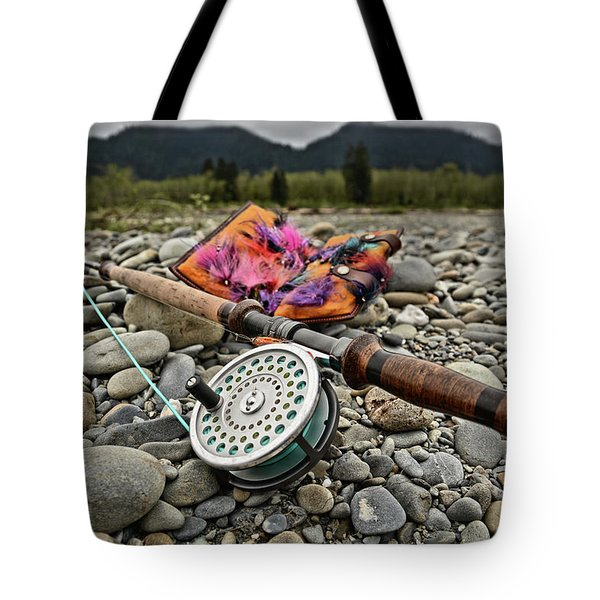 Fly Rod And Streamers Landscape Tote Bag