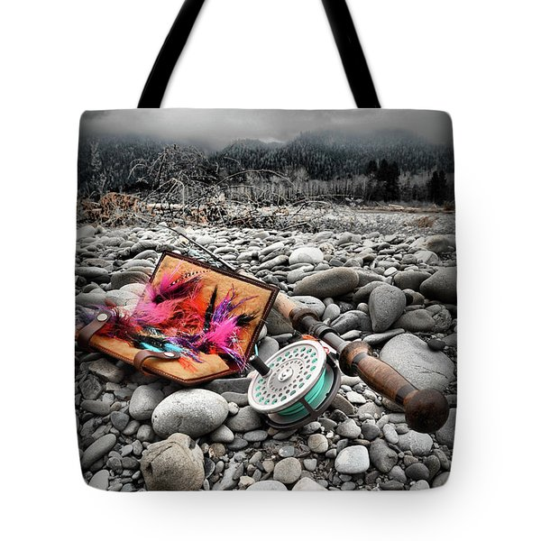 Fly Rod And Streamers Portrait Tote Bag