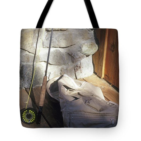 Fly Rod And Vest Tote Bag