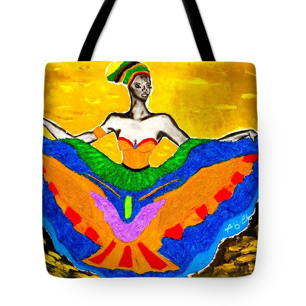 Tote Bag featuring the painting Fly by Tarra Louis-Charles