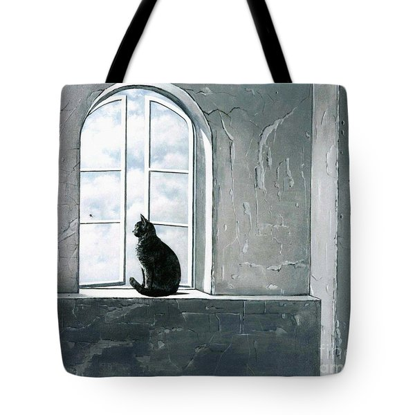 Fly Watching Tote Bag by Robert Foster