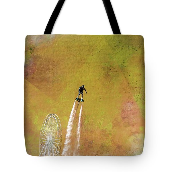 Flyboard, Sketchy And Painterly Tote Bag