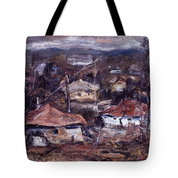 Flying Above The Village Tote Bag