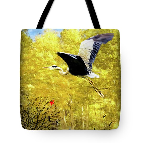 Flying Against The Wind Tote Bag