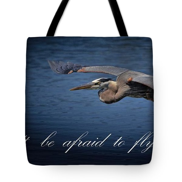 Flying Alone Tote Bag by Pamela Blizzard