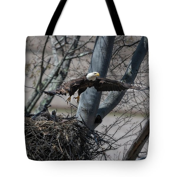 Flying Away From The Nest Tote Bag