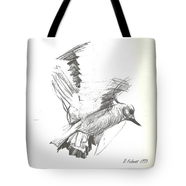 Flying Bird Sketch Tote Bag