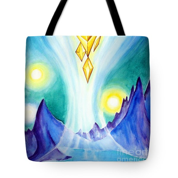 Flying Crystals. Storage Of Energy. Space Fantasy Tote Bag