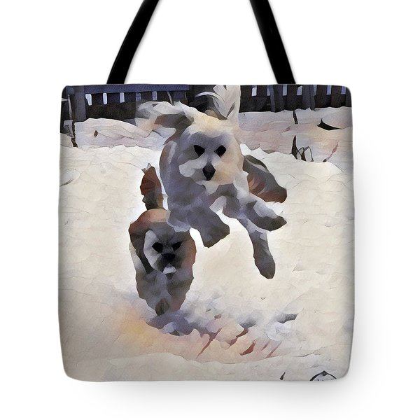 Flying Dog Tote Bag