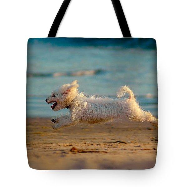 Flying Dog Tote Bag