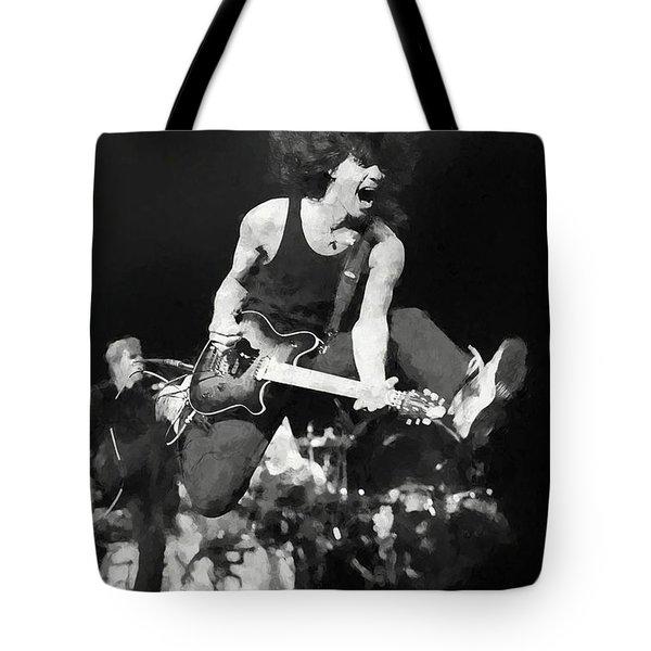 Flying Eddie Van Halen Painting Tote Bag