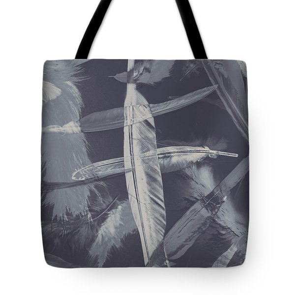Flying Featherabstract Background Tote Bag