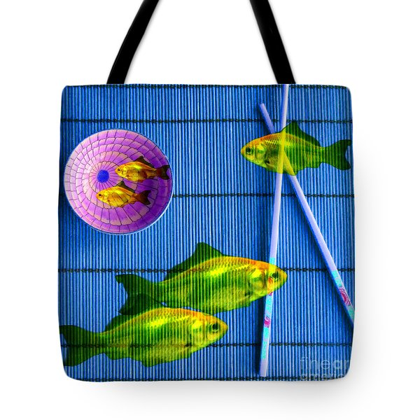 Flying Fish And The Pink Moon Tote Bag