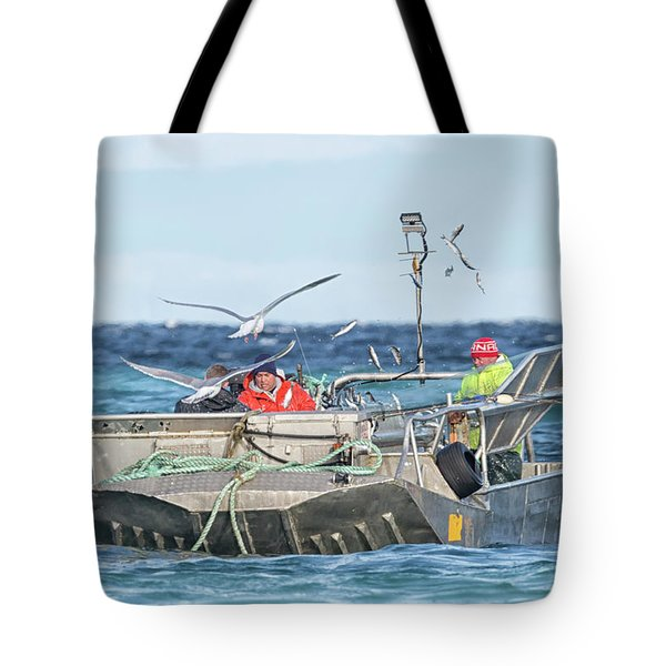 Tote Bag featuring the photograph Flying Fish by Randy Hall