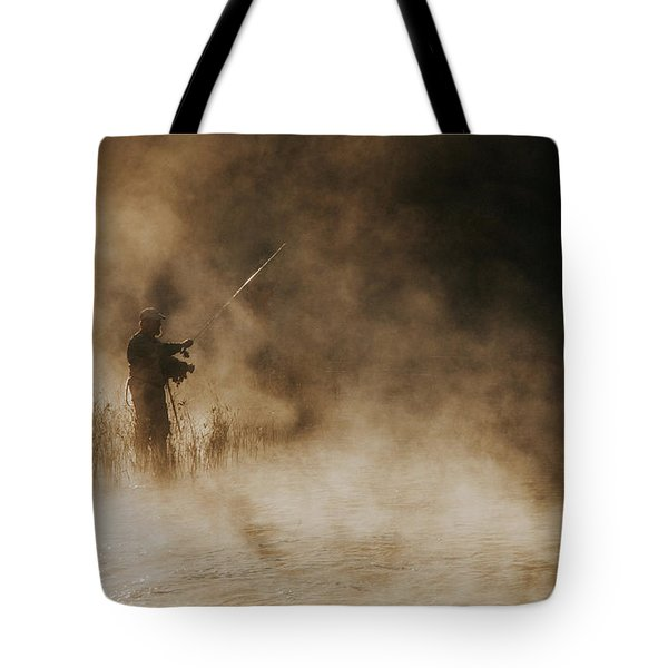 Tote Bag featuring the photograph Flying Fishing by Iris Greenwell