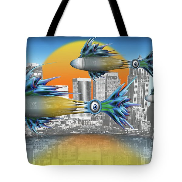 Flying Fisque  Tote Bag