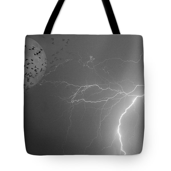 Flying From The Storm Bw Tote Bag by James BO  Insogna