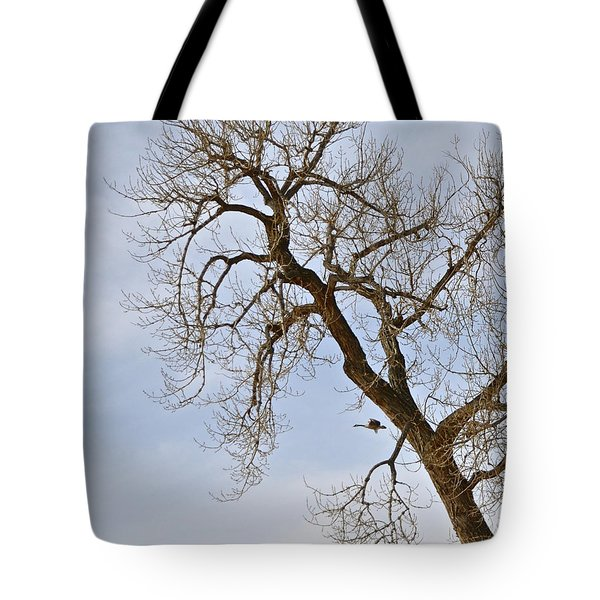 Flying Goose By Great Tree Tote Bag