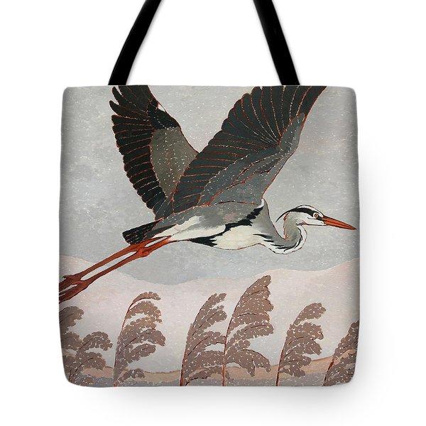 Flying Heron Tote Bag