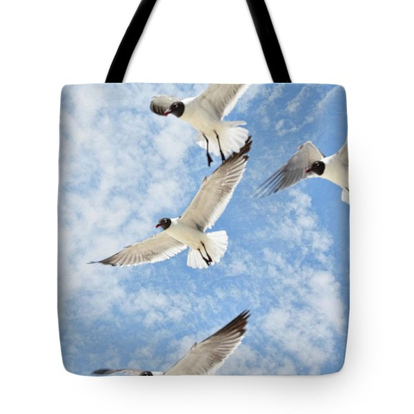 Tote Bag featuring the photograph Flying High by Jan Amiss Photography