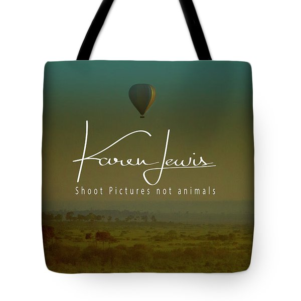 Tote Bag featuring the photograph Flying High On The Masai Mara by Karen Lewis