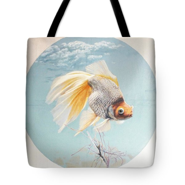 Flying In The Clouds Of Goldfish Tote Bag