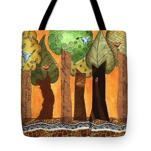Flying In The Forest Tote Bag