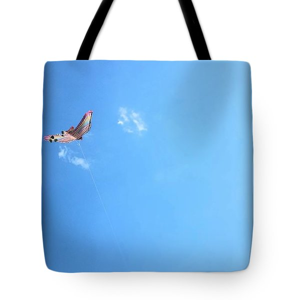 Flying In The Wind Tote Bag