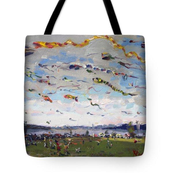Flying Kites Over Gratwick Park Tote Bag