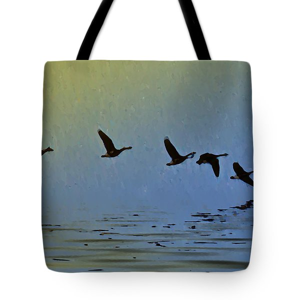 Flying Low Tote Bag by Bill Cannon