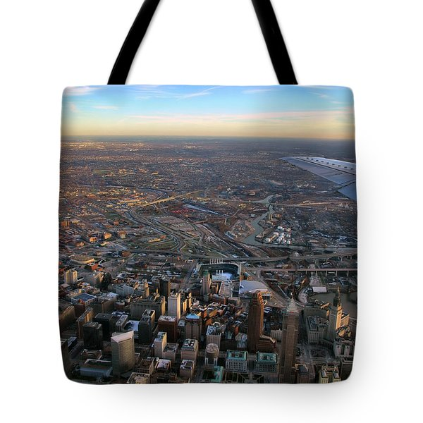 Flying Over Cincinnati Tote Bag