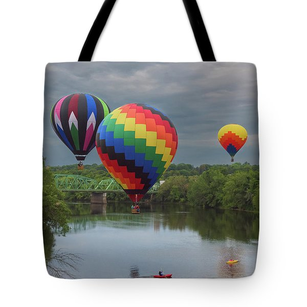 Flying Over The Androscoggin Tote Bag