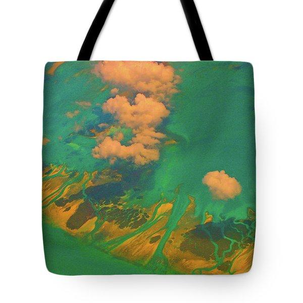 Flying Over The Keys, Florida Tote Bag