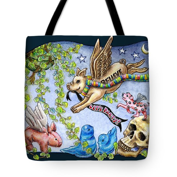 Flying Pig Party 2 Tote Bag