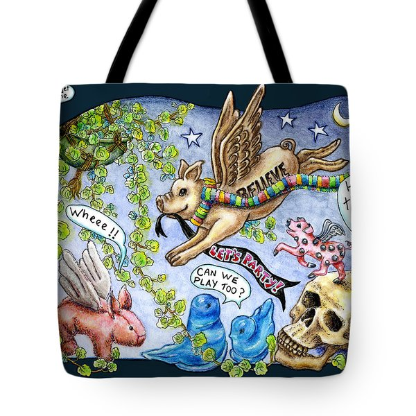 Flying Pig Party Tote Bag