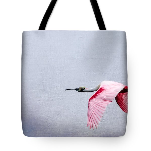 Flying Pretty - Roseate Spoonbill Tote Bag