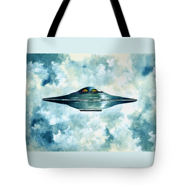 Flying Saucer Tote Bag by Michael Vigliotti