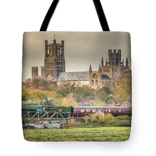 Tote Bag featuring the photograph Flying Scotsman At Ely by James Billings