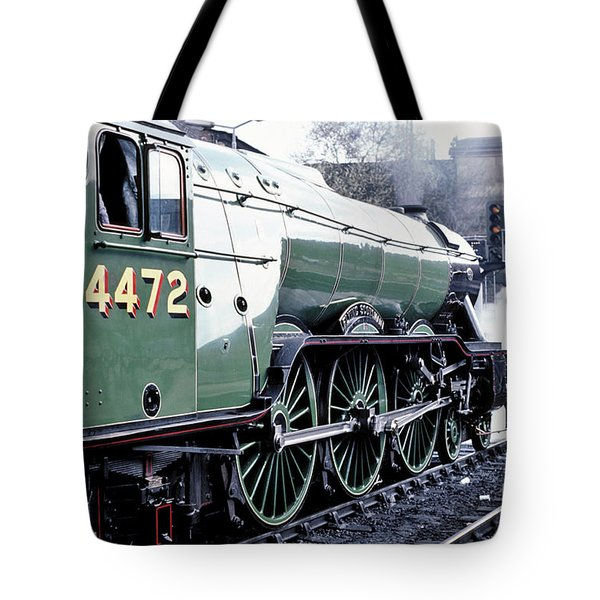 Tote Bag featuring the photograph Flying Scotsman Locomotive by David Birchall