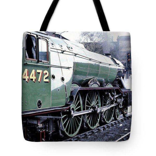 Flying Scotsman Locomotive Tote Bag