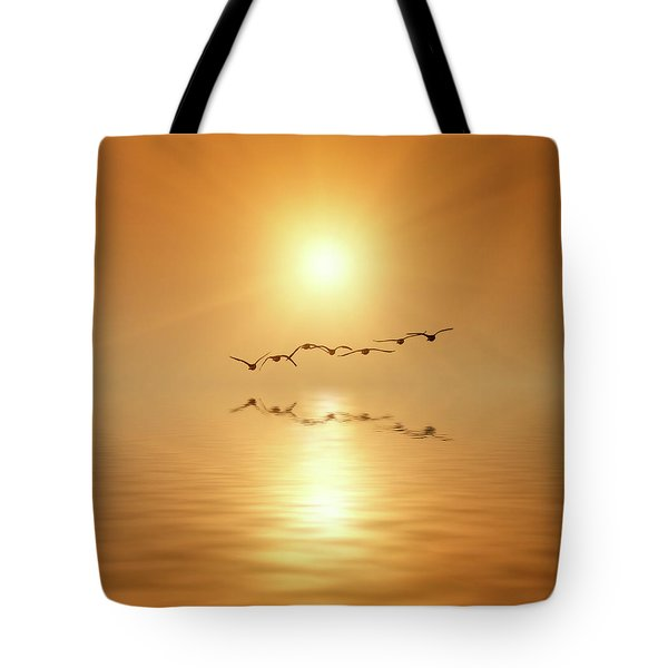 Flying South Tote Bag by Wim Lanclus
