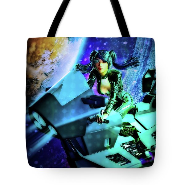 Flying Through Galaxies Tote Bag