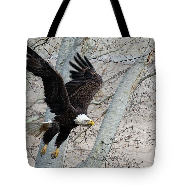 Flying Thru The Trees Tote Bag