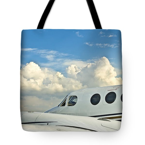 Flying Time Tote Bag by Carolyn Marshall