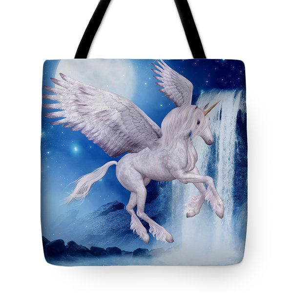 Flying Unicorn Tote Bag